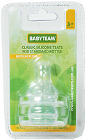 Baby Team Соска силиконовая классическая средний поток 2 шт. (2001)