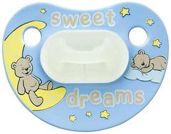 Bibi Пустышка силиконовая ночная Sweet Dreams 6-12 мес.