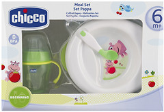 Chicco Набор посуды тарелка, чашка, ложка (06832.05)