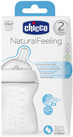 Chicco Бутылочка пластик Natural Feeling 250 мл от 2 мес. (80723.00)