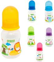 Baby Team Бутылочка с талией и силиконовой соской 125 мл (1111)