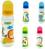 Фото Baby Team Бутылочка с талией и силиконовой соской 250 мл (1121)