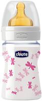 Фото Chicco Бутылочка стеклянная Well-Being с латексной соской 150 мл (20710.10)
