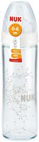 NUK Бутылочка стеклянная New Classic с силиконовой соской 240 мл
