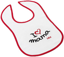 Bibi Нагрудник с вышивкой I Love Mama