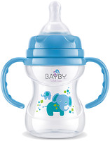 Bayby Бутылочка для кормления с ручками 150 мл (BFB 6104)