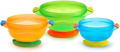 Munchkin Набор тарелок на присосках Stay-Put Suction Bowls 3 шт. (01107503)