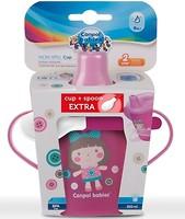 Canpol babies Поильник-непроливайка Toys 250 мл + ложечка