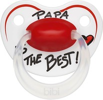 Bibi Пустышка силиконовая Happiness Dental Papa is the best 0-6 мес.