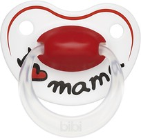Bibi Пустышка силиконовая Happiness Dental I Love Mama 0-6 мес.