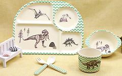 Eco Набор детской посуды Dinosaurs (44388)