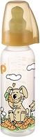 Nip Бутылочка антиколиковая полипропиленовая с латексной соской 250 мл (35005)