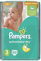Pampers Active Baby-Dry Midi 3 (82 шт)