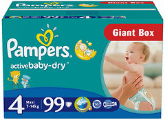 Pampers Active Baby-Dry Maxi 4 (99 шт)