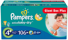 Pampers Active Baby-Dry Maxi 4 (106 шт)