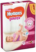 Фото Huggies Pants 3 для девочек (58 шт)