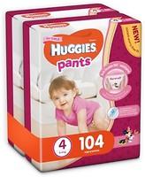 Huggies Pants 4 для девочек (104 шт)