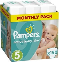 Фото Pampers Active Baby-Dry Junior 5 (150 шт)