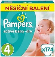 Pampers Active Baby-Dry Maxi 4 (174 шт)
