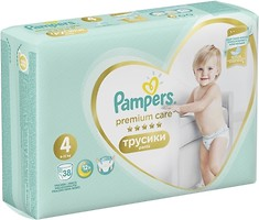 Фото Pampers Pants Premium Care Maxi 4 (38 шт)