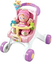 Fisher-Price Ходунки-коляска для кукол (М9523)