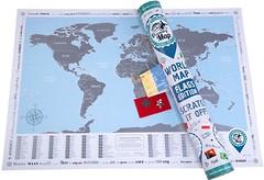 Фото Discovery Map Скретч-карта мира Flags Edition English в тубусе