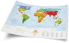 Фото 1dea.me Карта мира для детей Travel Map Kids Animals (KA)