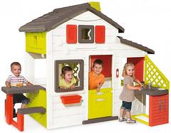 Фото Smoby Дом для друзей с чердаком и летней кухней (810200)