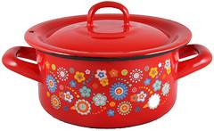 Metalac Цветы на красном (138597)