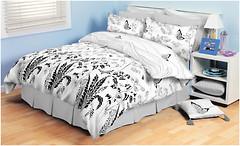 Колорит 904 Premium Бабочки белые двуспальный