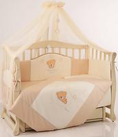 Маленькая Соня Tiny Love защита в кроватку шоколад
