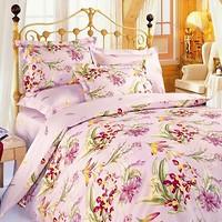 Колорит 637 Premium Ирисы розовые двуспальный Евро