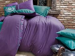 Issimo Home Dawson purple простынь на резинке двуспальный Евро
