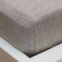 Фото Lodex Простынь на резинке Linen grey 160x200