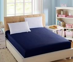 Фото Boston Textile Jefferson Простынь на резинке сатин 140x190 Dark blue (BJDB140190)