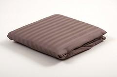 Фото Lotus Простынь на резинке страйп-сатин Coffee (полоска 1x1) 160x200 (4843)