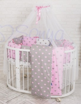 Маленькая Соня Baby Design Сердце розовый 6 эл.  ціни у м. Львів ... c661a3d5f4bcc