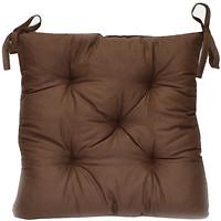 Фото Прованс Темно-коричневая подушка на стул 40x40