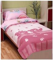 Vladi Мишка на лужайке 100x140 розовое