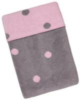 Womar Плед в горошек серый, розовый 75x100