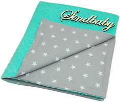 Sindbaby Плюшевый плед Minky с хлопком GreyStar 78x90 бирюзовый