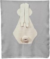 Фото Anmerino Зайка шерсть мериноса 65x80 серый с молочным