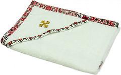 Руно Крыжма с красным украинским орнаментом 90x90 (987У)