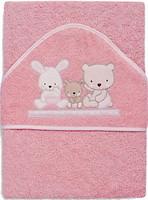 Interbaby Love 100x100 розовое (01080-02)