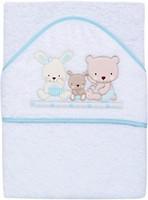 Interbaby Love 100x100 бело-голубое (01080-11)