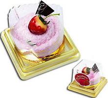 Фото Unique Cake Мусс золотисто-клубничный 25x25
