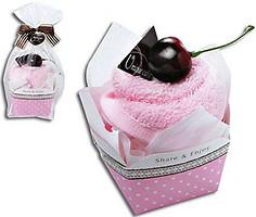 Фото Unique Cake Бисквит клубника, вишня 27x27 розовое
