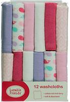 Luvable Friends Набор полотенец Sweet pink 25x25