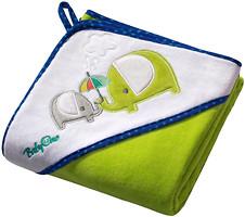 BabyOno Детское полотенце 100x100 зеленое
