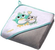 BabyOno Детское полотенце 76x76 серое
